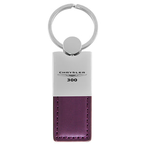 Chrysler 300 Keychain & Keyring - Duo Premium Purple Leather