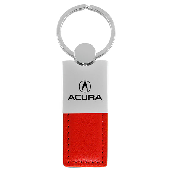 Acura Keychain & Keyring - Duo Premium Red Leather