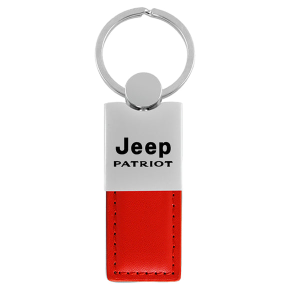 Jeep Patriot Keychain & Keyring - Duo Premium Red Leather