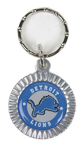 Detroit Lions NFL Keychain & Keyring - Leather