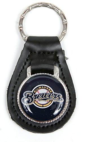 Milwaukee Brewers MLB Keychain & Keyring - Leather