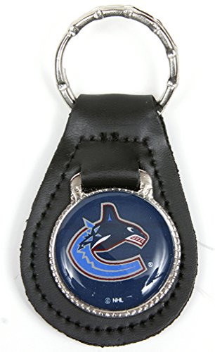 Vancouver Canucks NHL Keychain & Keyring - Leather
