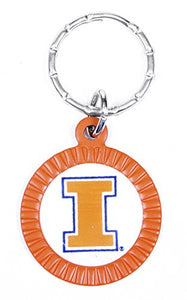 Illinois Fighting Illini Keychain & Keyring - Circle