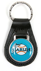 Florida Marlins MLB Keychain & Keyring - Leather