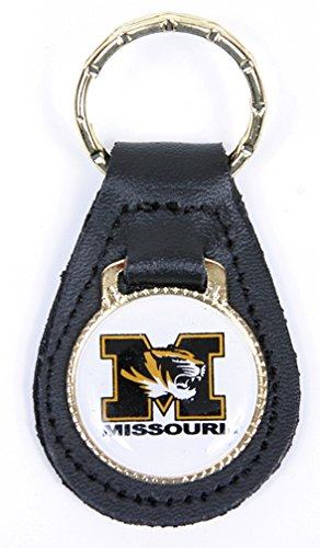 Missouri Tigers Keychain & Keyring - Leather