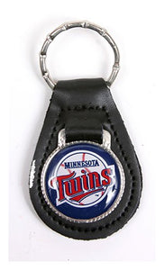 Minnesota Twins MLB Keychain & Keyring - Leather