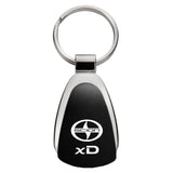 Scion xD Keychain & Keyring - Black Teardrop