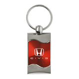 Honda Civic Reversed C Keychain & Keyring - Red Wave