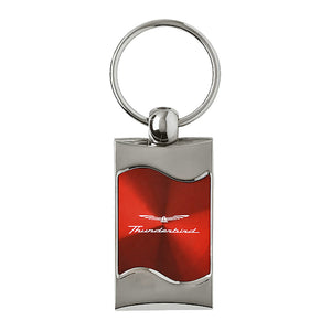 Ford Thunderbird Keychain & Keyring - Red Wave