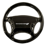 Dodge Stripe Keychain & Keyring - Black Steering Wheel