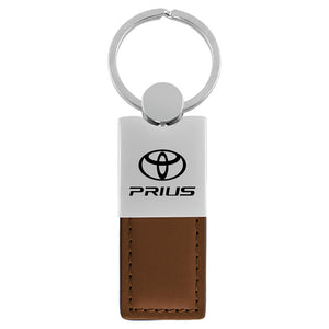Toyota Prius Keychain & Keyring - Duo Premium Brown Leather