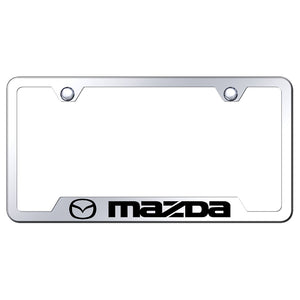 Mazda License Plate Frame - Laser Etched Cut-Out Frame - Stainless Steel