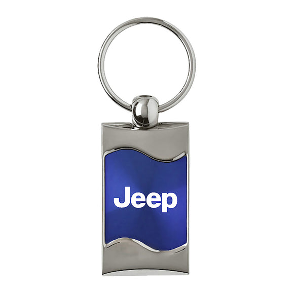 Jeep Keychain & Keyring - Blue Wave