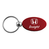 Honda Insight Keychain & Keyring - Burgundy Oval