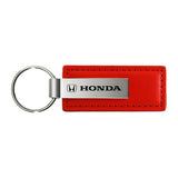 Honda Keychain & Keyring - Red Premium Leather