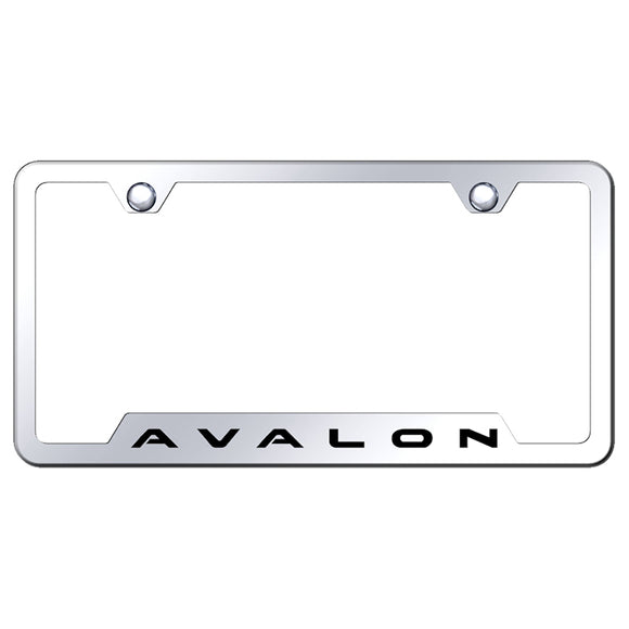 Toyota Avalon License Plate Frame - Laser Etched Cut-Out Frame - Stainless Steel
