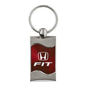 Honda Fit Keychain & Keyring - Burgundy Wave