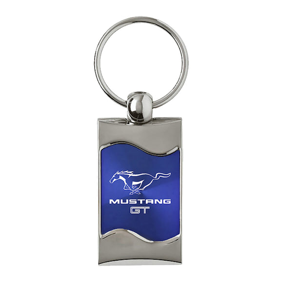 Ford Mustang GT Keychain & Keyring - Blue Wave