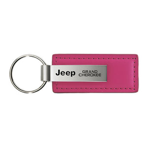 Jeep Grand Cherokee Keychain & Keyring - Pink Premium Leather