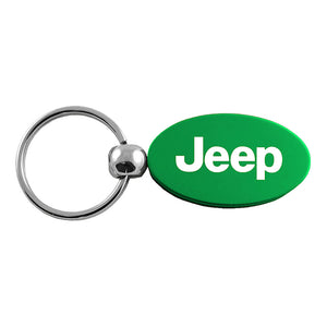 Jeep Keychain & Keyring - Green Oval