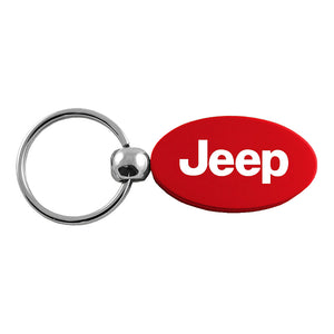 Jeep Keychain & Keyring - Red Oval
