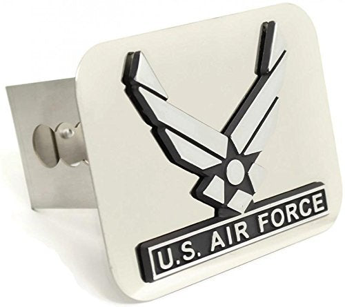 US Air Force Wing Chrome Trailer Hitch Plug