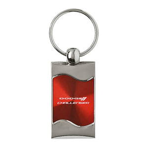 Dodge Challenger Keychain & Keyring - Red Wave