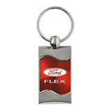 Ford Flex Keychain & Keyring - Red Wave
