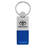 Toyota Sienna Keychain & Keyring - Duo Premium Blue Leather