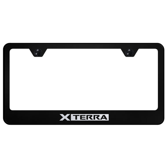 Nissan Xterra Black License Plate Frame