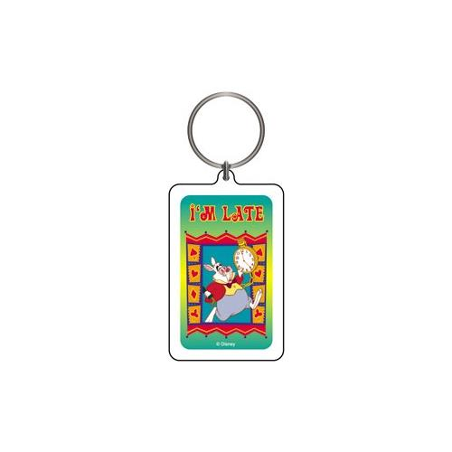 Alice in Wonderland Rabbit Keychain & Keyring