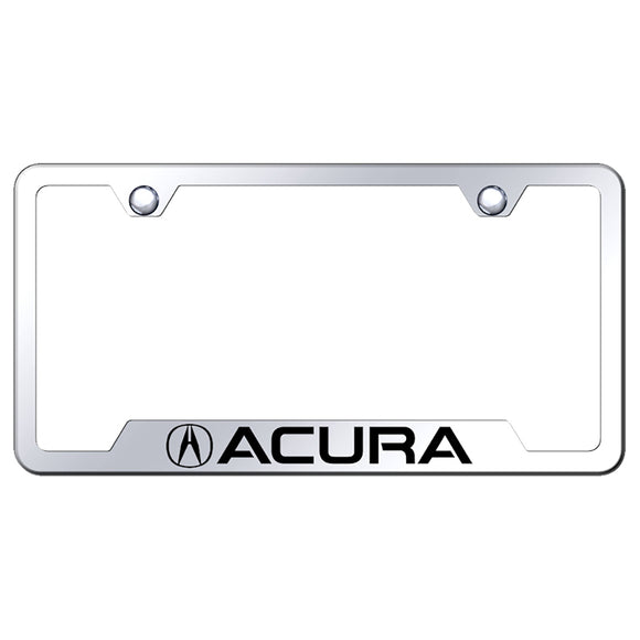 Acura License Plate Frame - Laser Etched Cut-Out Frame - Stainless Steel