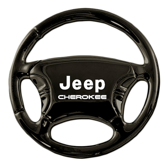 Jeep Cherokee Keychain & Keyring - Black Steering Wheel