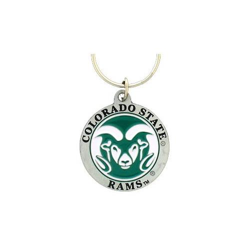 Colorado State Rams Keychain & Keyring - Pewter