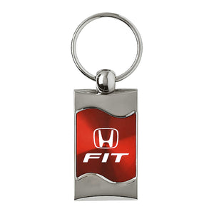 Honda Fit Keychain & Keyring - Red Wave