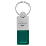 Chrysler 300 Keychain & Keyring - Duo Premium Green Leather