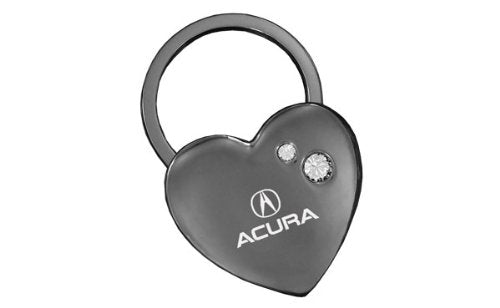 Acura Black Heart Key Chain Swarovski Crystals Keychain