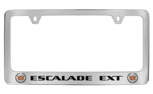 Cadillac Escalade EXT Chrome Plated Metal License Plate Frame Holder