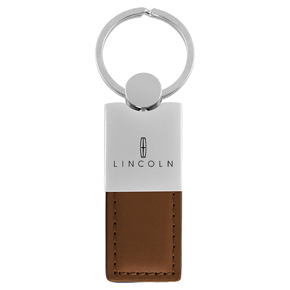 Lincoln Keychain & Keyring - Duo Premium Brown Leather