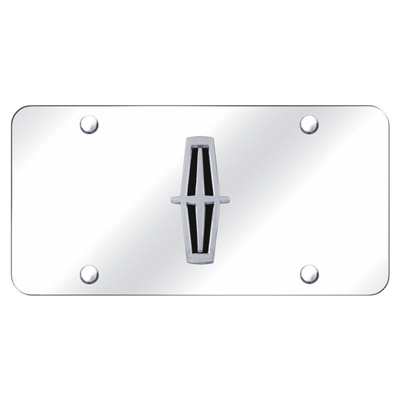 Lincoln Logo (Black) Chrome/Chrome Plate
