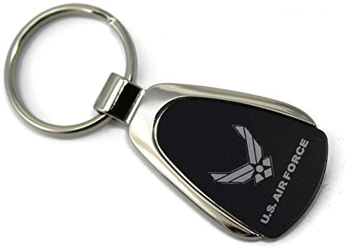 USA Airforce Wing Logo Keychain & Keyring - Black Teardrop