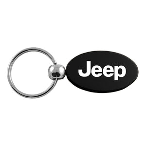Jeep Keychain & Keyring - Black Oval