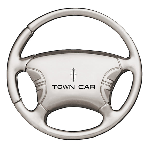 Lincoln Towncar Keychain & Keyring - Steering Wheel