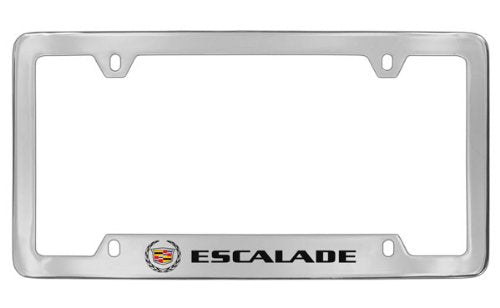 Cadillac Escalade Chrome Plated Metal Bottom Engraved License Plate Frame Holder