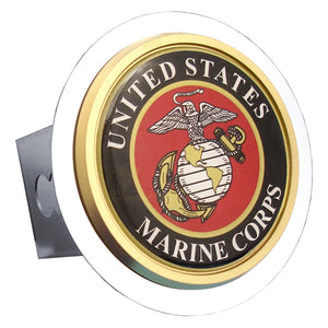 US Marine Corps Chrome Trailer Hitch Plug