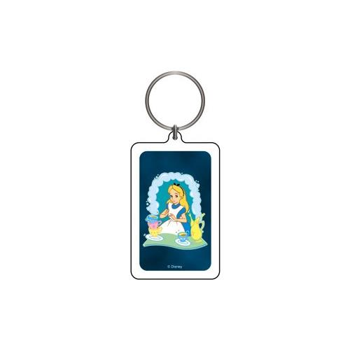 Alice in Wonderland Alice with Tea Keychain & Keyring