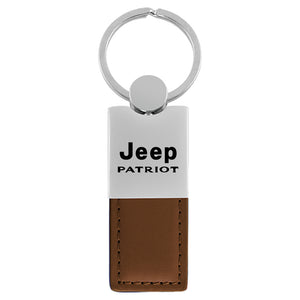 Jeep Patriot Keychain & Keyring - Duo Premium Brown Leather