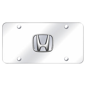 Honda Chrome Logo on Chrome Plate
