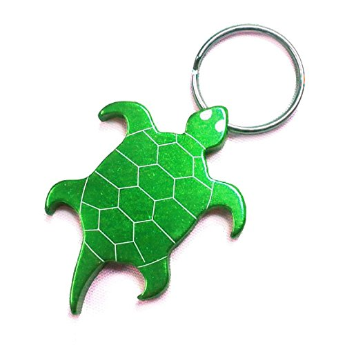 Turtle Keychain & Keyring - Bottle Opener - Green