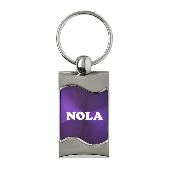 NOLA Keychain & Keyring - Purple Wave